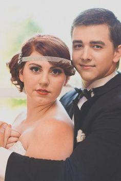 Gatsby 1920 Vintage Wedding Look . See more here: Vintage Gatsby Styled Shoot | Confetti Daydreams ♥  ♥  ♥ LIKE US ON FB: www.facebook.com/confettidaydreams  ♥  ♥  ♥ #Wedding #Vintage #VintageWedding #Gatsby