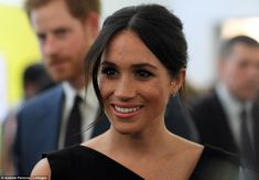 Natural beauty: The royal bride-to-be kept her makeup to a minimum, adding just a hint of ...