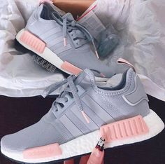 Adidas Women Shoes - ADIDAS Women Running Sport Casual Shoes NMD Sneakers Grey - We reveal the news in sneakers for spring summer 2017 Tenis Nmd, Nmd Sneakers, Adidas Shoes Nmd, Addidas Shoes Running, Cute Sneakers For Women, Pink Adidas Shoes, Trainers Adidas, Women Nike Shoes, Girls Shoes