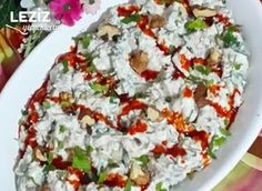 Roasted Eggplant Salad with Label – My Delicious Food - Salat Ideen Roasted Eggplant Salad, Roast Eggplant, Sangria Recipes, Salad Recipes, Yummy Drinks, Yummy Food, Banana Pudding Recipes, Dessert Salads, Eggplant Recipes