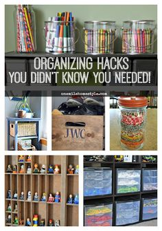 Organizing hacks you didn't even know you needed! Get your home stylishly organizing with these easy tips! - One Mile Home Style