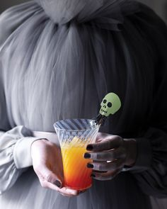 made this for halloween party 2011 - good stuff - OJ, grenadine, rum  To make a pitcher of this use 1 bottle white rum, 48 oz OJ and 12 oz grenadine