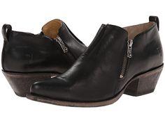 Frye Sacha Moto Shootie Black Smooth Vintage Leather - Zappos.com Free Shipping BOTH Ways