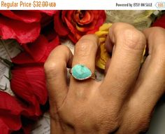 ON SALE TODAY Estate Tear Drop East West 925 Sterling by Glamaroni