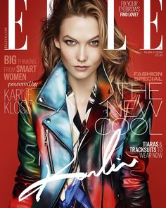 Ithis cover!! Cant wait until March  @elleuk #ELLExKLOSSY by karliekloss