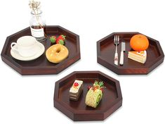 Black Wooden Serving Tray Cookie Platter Cookie Dessert Plates Food Dish Fruit Coffee Tray Party Vegetable Bar Trays Serving Trays With Handles, Serving Tray Wood, Serving Plates, Personalized Cheese Board, Meat Fruit, Wood Cutting Boards, Food Safety, Walnut Wood, Charcuterie