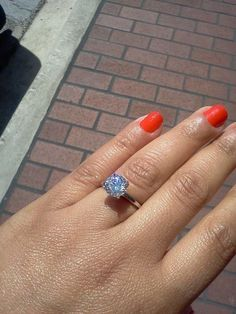 My engagement ring. 2ct of beautiful!!