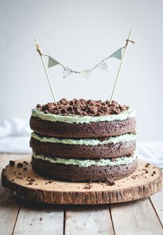 mint choc chip cake//