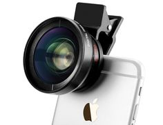 Universal Professional HD Super Wide Angle Lens + Super Macro Lens + Thread Clip Holder Camera Lens Kit For Iphone 6 / 6 Plus / 5 For Samsung Galaxy / Mobile Phone Lens include: Macro lens can take clear photos of small objects. Wide-angle lens can . Photo Accessories, Angles, Mobile Lens, Mobile Phones, Iphone Camera Lens, Macro Camera, Android Camera, Android Smartphone, Kit