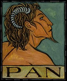 The origins of Pan are vague but most accounts say he is the son of Hermes and nymph.