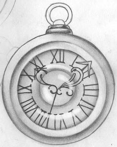 Image result for simple pocket watch drawing