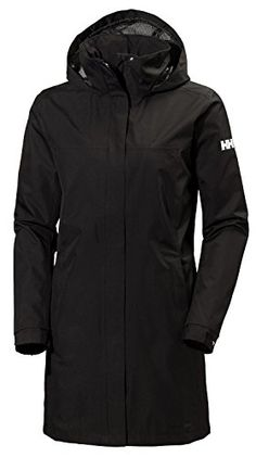 Helly Hansen Womens Aden Long Shell Jacket Black XLarge * Want to know more, click on the image.(This is an Amazon affiliate link and I receive a commission for the sales)