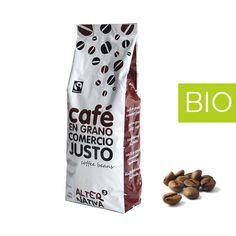 Café Descafeinado BIO Grano 1 kilo.  Café Biológico Comercio Justo.