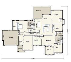 Hibiscus Acreage House Plans - FREE Custom House Plans & Prices from Building Buddy http://www.buildingbuddy.com.au/home-designs-main/acreage-house-plans/