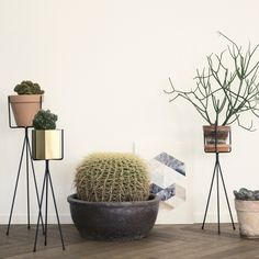 Ferm LIVING Plant Stand, Black, Small