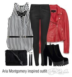 """""""Aria Montgomery inspired outfit/PLL"""" by tvdsarahmichele ❤ liked on Polyvore featuring J.Crew, Topshop, Style & Co., Forever 21 and Pieces"""