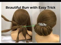Low Bun Wedding Hair, Bridal Hairstyle Indian Wedding, Bridal Hair Buns, Wedding Updo, Indian Wedding Hairstyles, Wedding Hairstyles For Long Hair, Easy Hairstyles, Girl Hairstyles, Hairstyle Hacks