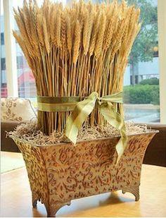 trigo 3 mais em: http://casandoearquitetando.blogspot.com.br/2012/07/decoracao-com-trigo.html