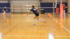 To improve change-of-direction abilities, the Premier Volleyball team performs the Star Drill during the championship phase of its training program.