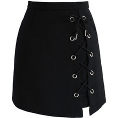 Chicwish Stylish Tie Bud Skirt in Black (£36) ❤ liked on Polyvore featuring skirts, mini skirts, bottoms, black, saias, faldas, tie-dye skirt, lace skirt, embellished skirts and embellished mini skirt