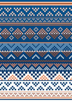 Pattern Art Print by Luke Thomas - X-Small, Diy Abschnitt, Fair Isle Knitting Patterns, Fair Isle Pattern, Knitting Charts, Loom Patterns, Knitting Stitches, Fabric Patterns, Cross Stitch Patterns, Crochet Patterns, Fair Isle Chart