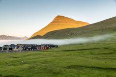 The fog creeps in over Gjógv, Faroe Islands. by Jon Armstrong for Blurbomat.com.