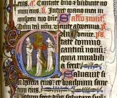Initial with the Ark of the Covenant and King David from the Chichele Breviary [LPL  MS 69 f.237r.]