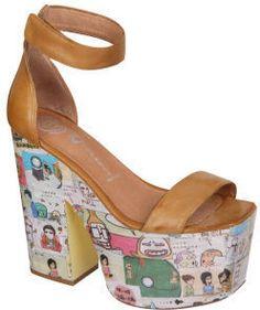 f4d0f30954c Jeffrey Campbell Women s Funnies Platform Heels - Tan Shoe Company