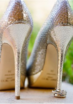 gold sparkly shoes / Nicole Paulson Photography