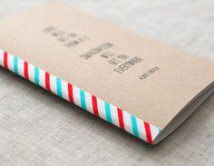 Einstein Mini Notebook, Typography Pocket Size Journal, Recycled Sketchbook - Stocking Stuffer par HappyDappyBits sur Etsy # Travel # Voyage # Papeterie # Diy