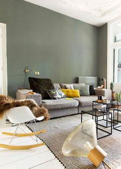 Agreable Marion_lanoe_architecte_interieur_lyon_24 1 (564×789) Idee Couleur Salon,  Mur Vert