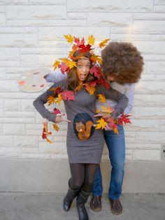 Bob Ross, Baum & Eichhörnchen | Kostüm-Idee für Schwangere zu Karneval, Halloween & Fasching