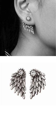 544f1c660 32 Best angel wing earrings images in 2016   Angel wing earrings ...