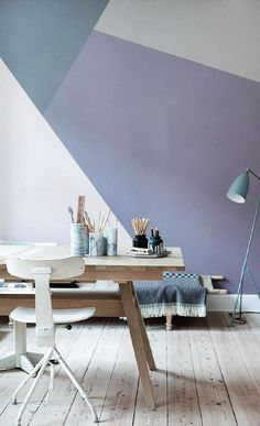Color block wall. Would like to do this to one of the walls in the nursery.
