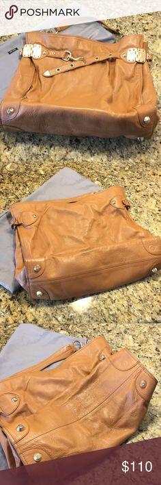 52f66ec558c6 Miu Miu Tan Leather Hobo Bag Miu Miu Tan Leather Hobo Bag with Gold  Hardware •