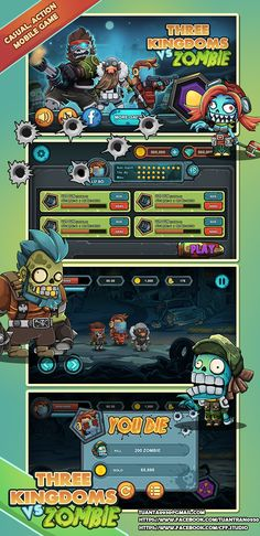 3 Kingdoms vs Zombie on Behance