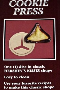 Hersheys Kisses Cookie Press * Haven't you heard that you can find more discounts at this image link : Baking Accessories