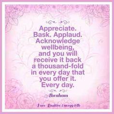 Appreciate - Abraham