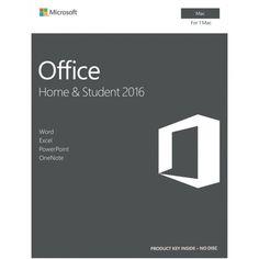 Microsoft Office Mac: Home & Student 2016, English, 1 User