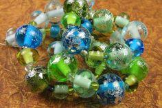 Into the Fire Lampwork Art Beads ~Dathanna~ Artist handmade glass beads SRA