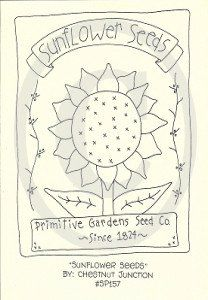 """8"""" x 10"""" primitive embroidery - stitchery epattern.Epattern includes DMC color list and simple instructions."""