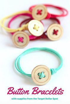 Easy to Make Button Bracelets More