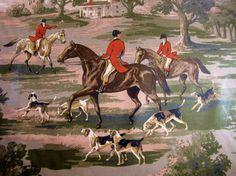 Pictorial Cotton Home Décor Pillows Dream English, Horse Fabric, European Style Homes, Equestrian Decor, Fox Hunting, Equine Art, Decorative Pillows, Scene, Horses