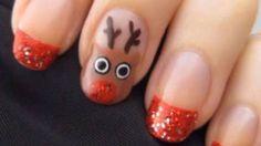 Holiday Reindeer Nail Art