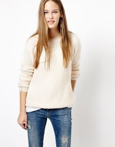 New Look | New Look Rolled Neck Stitch Raglan Sweater at ASOS