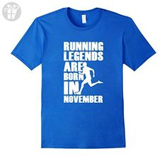Mens Running Legends Are Born In November Birthday T-Shirt 3XL Royal Blue - Birthday shirts (*Amazon Partner-Link)