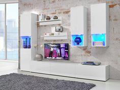 Obývacia stena Clip + LED (biela)
