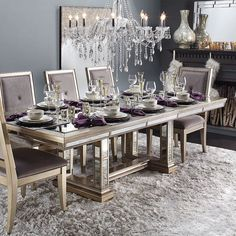 Welcome Home: ready your home for the holidays with the Ava Extending Table to bring everyone together. How will you prep for guests this season? [Tap link in bio to get this look] Dinning Room Tables, Elegant Dining Room, Round Dining Table, Dining Room Furniture, Dining Rooms, Modern Furniture, Dining Room Inspiration, Home Decor Inspiration, Decor Ideas