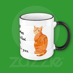'Dogs come when they're called, Cats get back to you' Ringer Mug