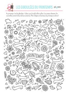 natur spring Nature spring hand drawn symbols and vector doodle - by kostenkodesign on VectorStock Bullet Journal Art, Bullet Journal Ideas Pages, Bullet Journal Inspiration, Doodle Sketch, Doodle Drawings, Easy Drawings, Pages Doodle, Doodle Art Journals, Doodle Coloring